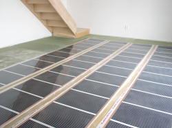 Elektrické podlahové topení beton