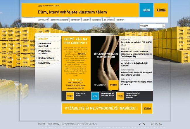 Internetové stránky YTONG cz v novém kabátě - TZB-info