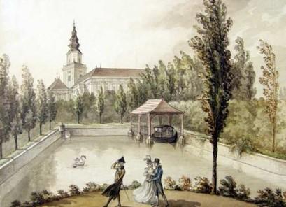 Přístaviště pro gondoly – 1800, Josef Fischer
