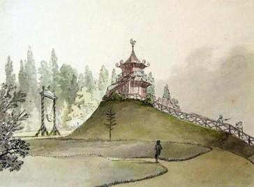 Čínský pavilón shoupačkou – 1800, Josef Fischer