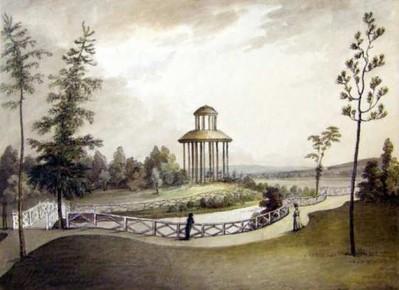 Tahitský pavilón za Mlýnskou strouhou – 1800, J. Fischer