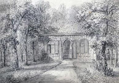 Kůrový domek vedle Letní jízdárny – kolem 1800