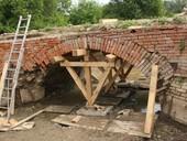 Rekonstrukce historického mostu vlokalitě Portz Insel