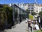 Kodaň, Hedebygade: bytové domy, kde měli fotovoltaiku a větrání srekuperací už na začátku tisíciletí